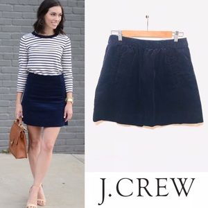 J Crew navy corduroy front pocket mini skirt